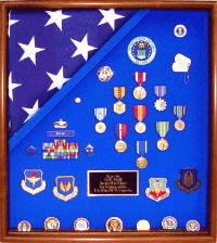 large military flag display case