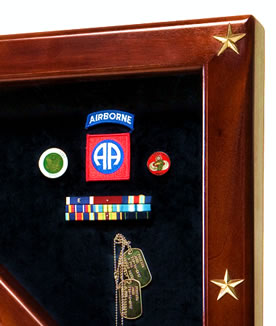 freedom flag case & shadow box