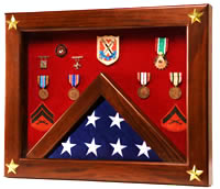 Star Spangled shadow box flag case