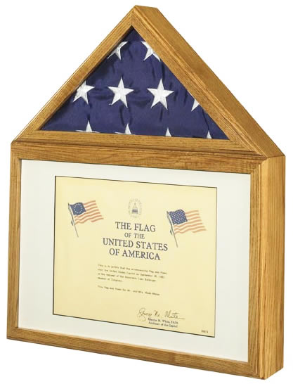 capitol flag certificate & flag display case / shadow box -- two ...