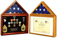 capitol flag and certificate shadow box flag case