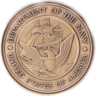 Navy coin medallion