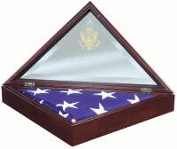 glass flag frame flag case