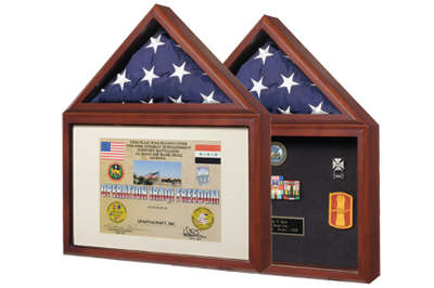 certificate medal flag display case frame shadow box