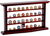 Challenge coin rack display case