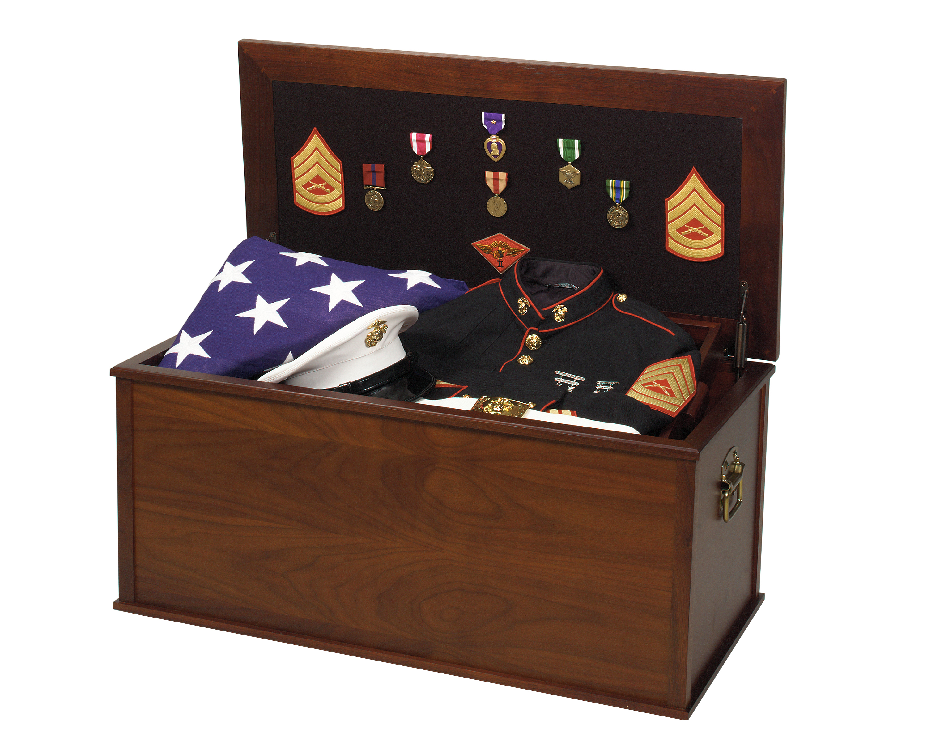 Warrioru0027s Military Foot Locker Display Case Chest Trunk for Uniform Memorabilia and American Flag Case Display MADE IN AMERICA  sc 1 st  Flag Cases & Warrioru0027s Foot Locker Uniform Memorabilia and Flag Case Chest Aboutintivar.Com