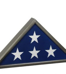 Veteran Gunmetal Memorial Military Retirement Flag Case