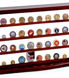 military challenge coin rack display case
