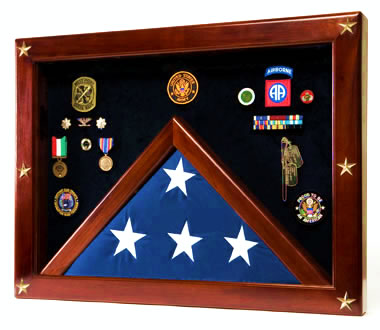 The Freedom Shadow Box & Flag Case for 5X9.5 & burial flags