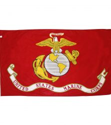 United States Marine Corps flag official Marines logo flag