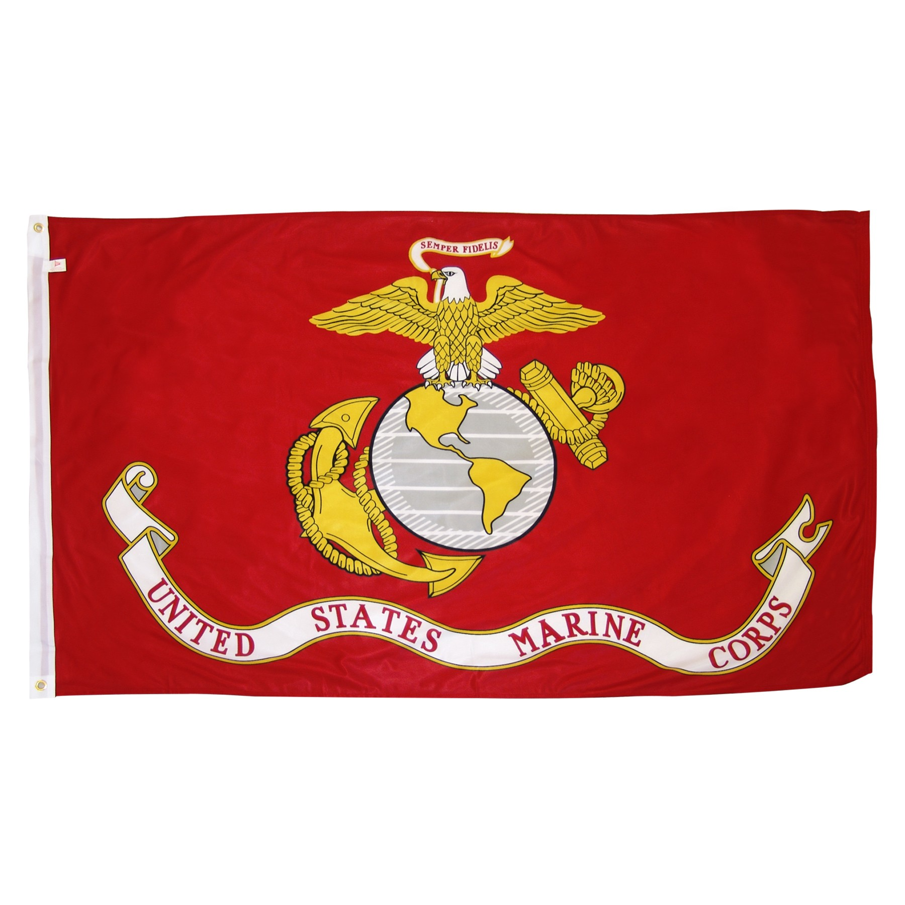 Marine Corps Flag With Official Marines Logo Capitol