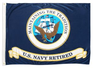 United States Navy Retired official flag
