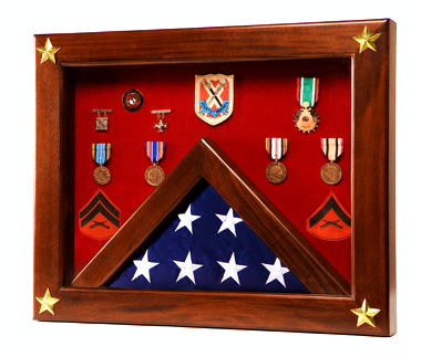 Flag Case, Star Spangled Classic Shadow Box