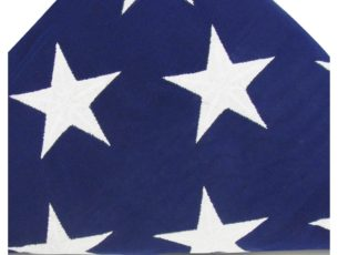 Closeup American flag cotton US memorial USA flag 5X9.5 for military shadow boxes and flag cases