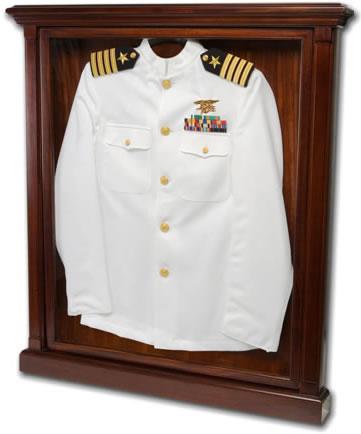 military uniform display case