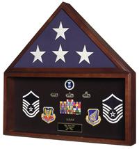 battalion flag and memorabilia display case