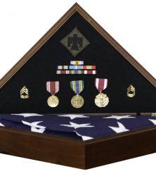 Hero Memorial Flag Case Shadow Box