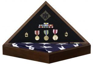 Hero Military Retirement Memorial Flag Case