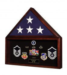 Battalion Flag & Memorabilia Display Case