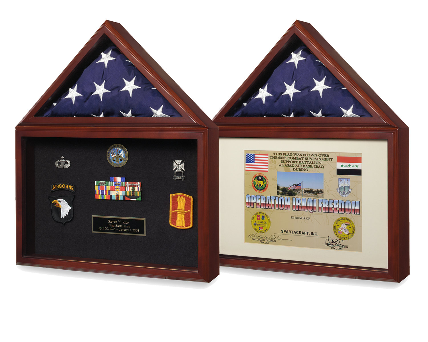 Capitol Flag Certificate Flag Display Case Shadow Box Two