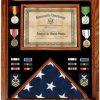 Premium Certificate Shadow Box 3x5 Flag Case Medals