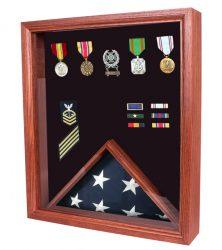 3x5 flag display case shadow box USA made cherry