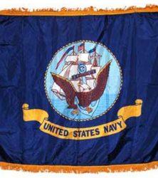 Navy indoor flag