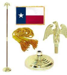 Texas flag pole set