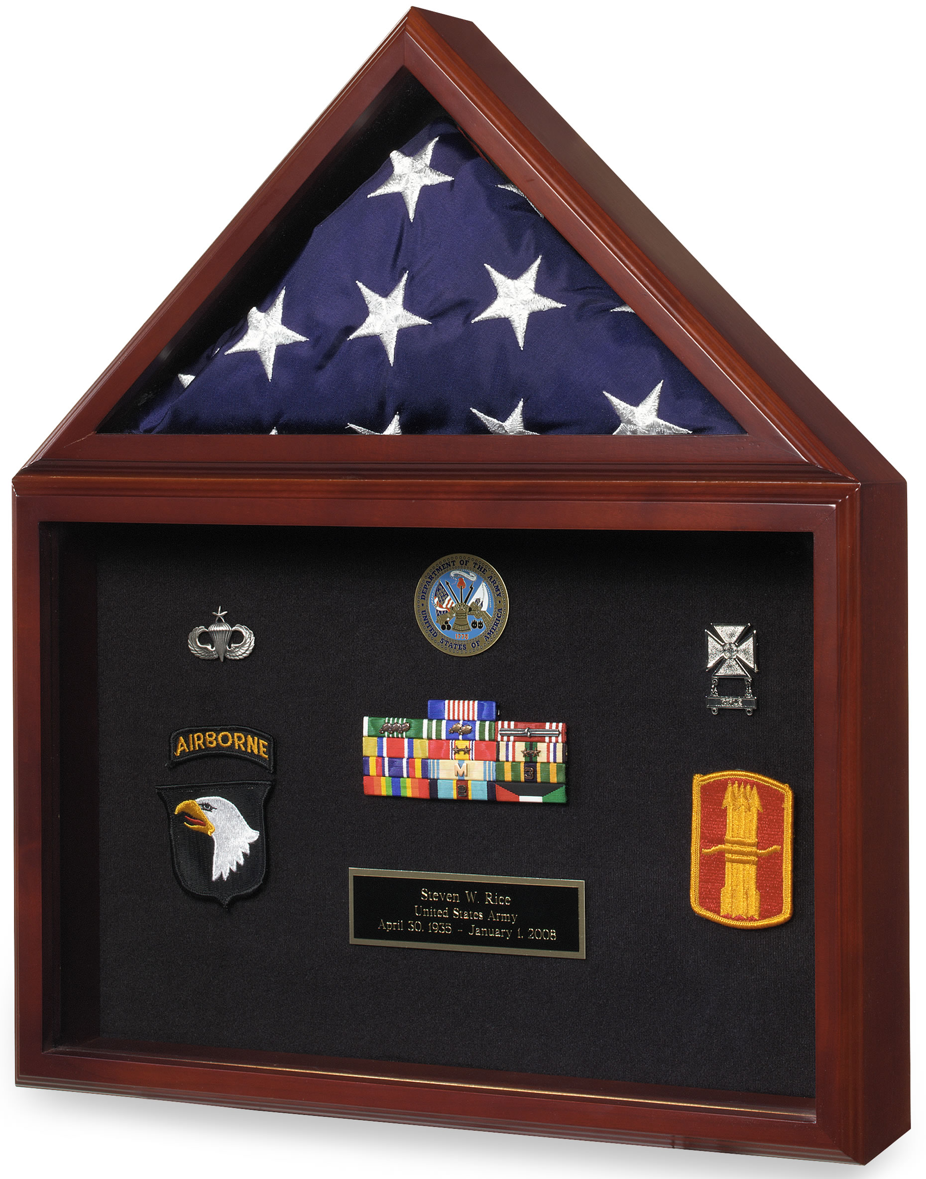 Capitol Flag Certificate Flag Display Case Shadow Box