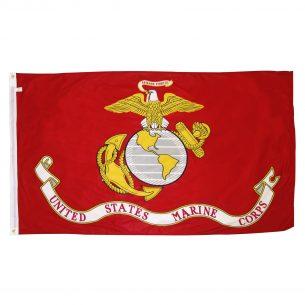 United States Marine Corps flag official Marines logo flag