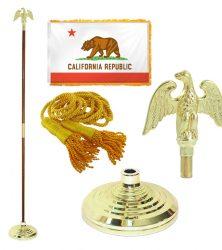California Flag Pole Set