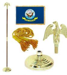 Navy flag pole set