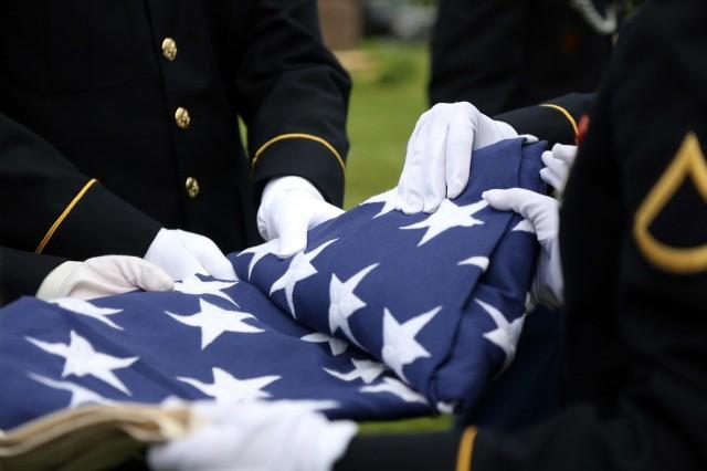 Memorial Flag folding ceremony