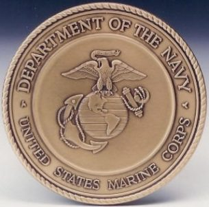 United States Marine Corps Insignia Seal Solid Brass Medallion